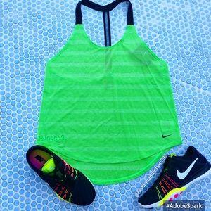 Nike elastika elevante tank women's green …